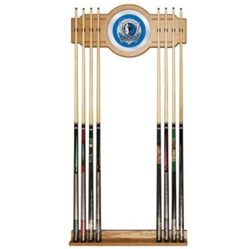 Trademark Global Wood and Glass Billiard Cue Rack With Mirror, Dallas Mavericks NBA