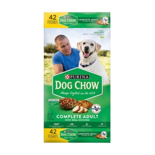 Purina Dog Chow Complete Dry Dog Food 42lb Bag