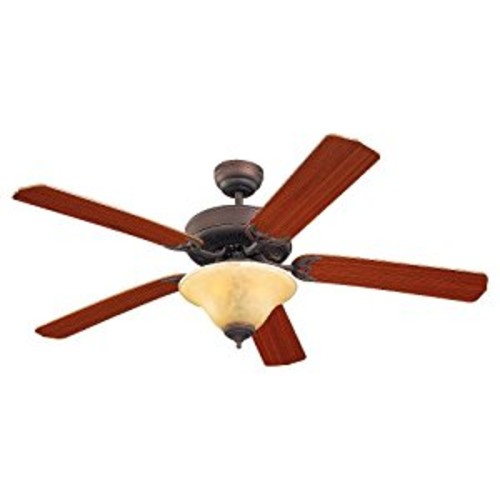 Monte Carlo 5HS52RBS-L, Homeowner Deluxe Ceiling Fan with Light,52