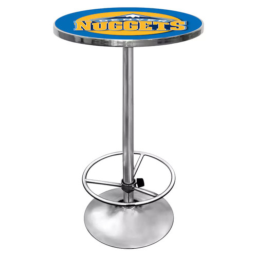 Trademark NBA Denver Nuggets Chrome Pub/Bar Table