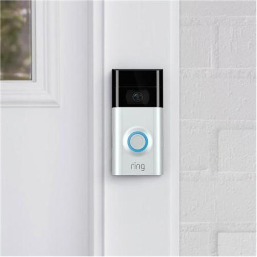 Ring Video Doorbell 2, Satin Nickel/Venetian