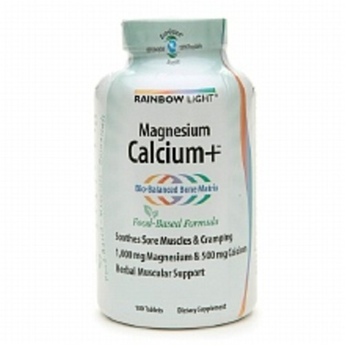 Rainbow Light Magnesium Calcium+ Dietary Supplement Tablets