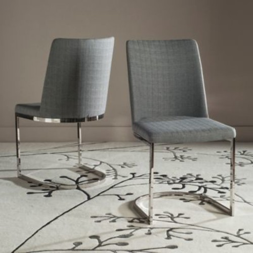 Safavieh Parkston Side Chairs in Linen Grey (Set of 2)