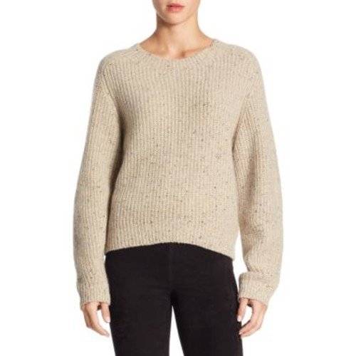 VINCE Cropped Saddle Cashmere Sweater