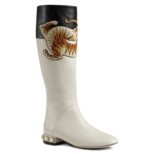 GUCCI Pam Embroidered Tall Boots