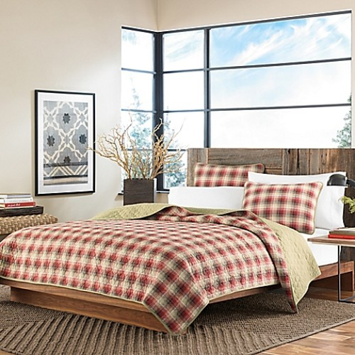 Eddie Bauer Ravenna Twin Quilt Set in Red