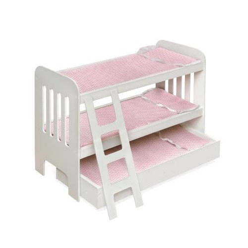 Badger Basket Trundle Doll Bunk Beds with Ladder (fits American Girl dolls)