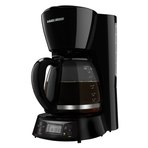 Black & Decker 12-Cup Programmable Coffee Maker-Black