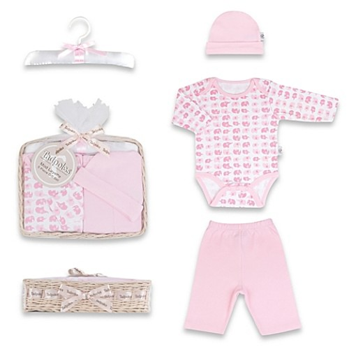 Tadpoles by Sleeping Partners Mod Zoo Size 0-6M 5-Piece Gift Set in Pink Elephant