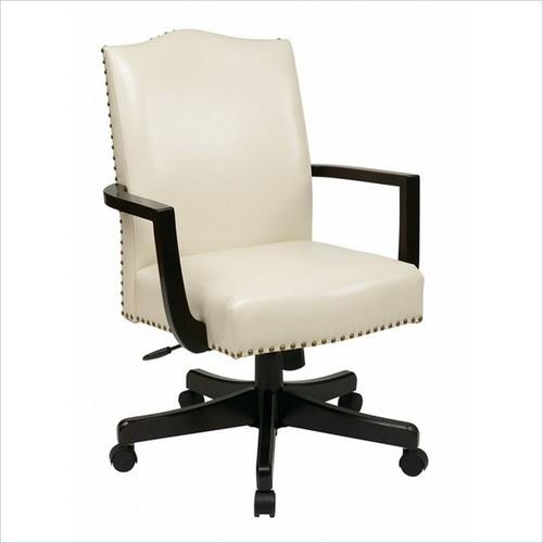 INSPIRED by Bassett - INSPIRED by Bassett Morgan Manager's Office Chair In Cream Finish - White