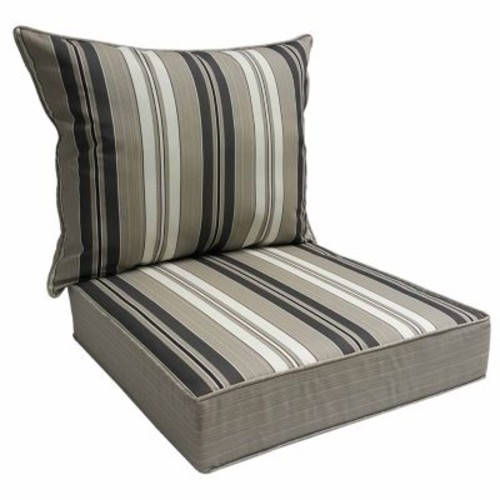 SONOMA Goods for Life 2-piece Suntastic 1000 Striped Indoor Outdoor Reversible Deep Seat Cushion Set