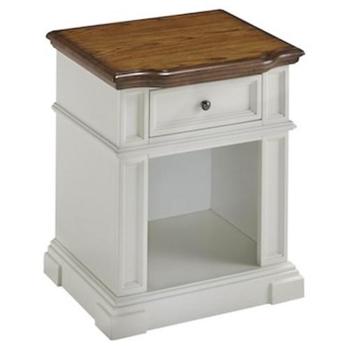 Americana Nightstand White/Distressed Oak - Home Styles