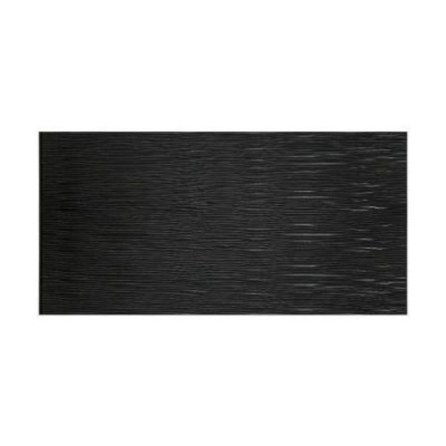 Fasade Waves Horizontal 96 in. x 48 in. Decorative Wall Panel in Black