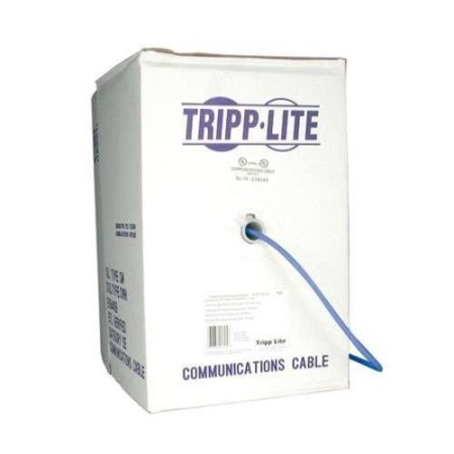 Tripp Lite 1000ft Cat5e 350MHz Bulk Stranded-Core PVC Cable - Blue