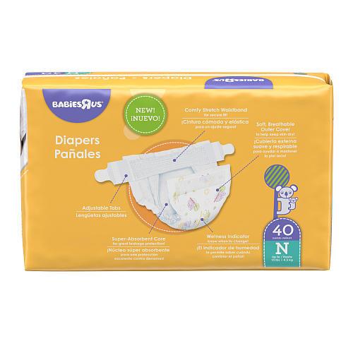 Babies R Us Newborn Jumbo Pack Diapers- 40 Count