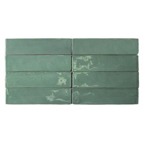 Splashback Tile Catalina Green Lake Ceramic Wall Tile - 3 in. x 6 in. Tile Sample