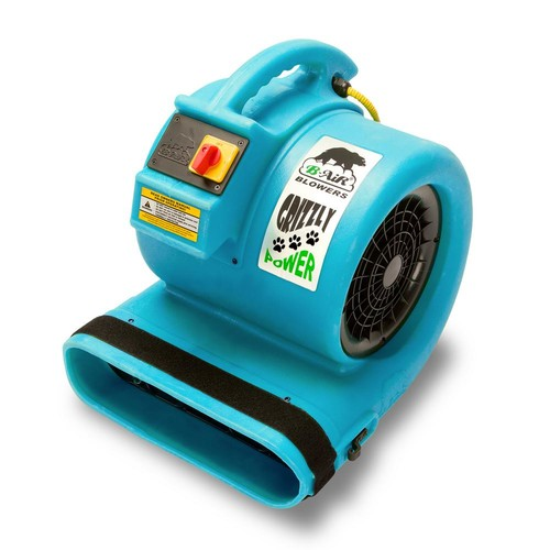 B-Air 1 HP Air Mover for Water Damage Restoration Carpet Dryer Floor Blower Fan in Turquoise