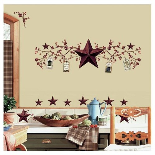 RoomMates Country Stars & Berries Peel & Stick Wall Decals