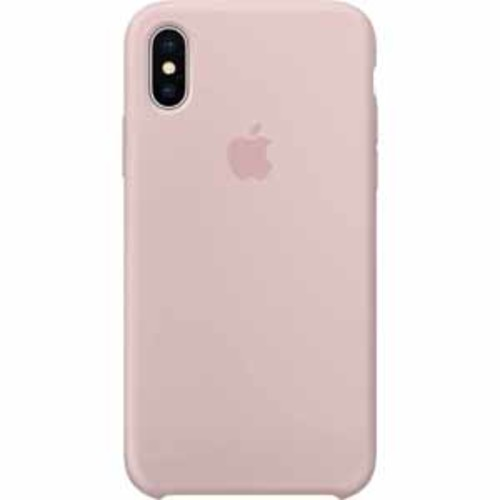 Apple Silicone Case for iPhone X - Pink Sand