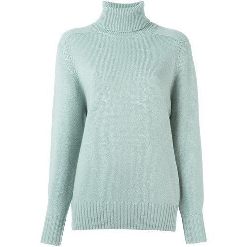CHLOÉ Cashmere Ribbed Roll Neck Jumper