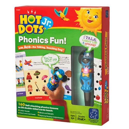 Educational Insights Hot Dots Jr Phonics Fun! Set With Ace Pen