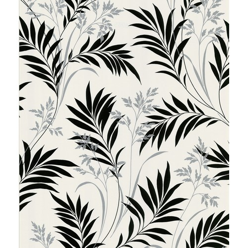 Sample Bali Hai Foliage Wallpaper in White by Brewster Home Fashions