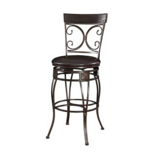 Powell Furniture Company Big and Tall Back to Back Scroll Barstool