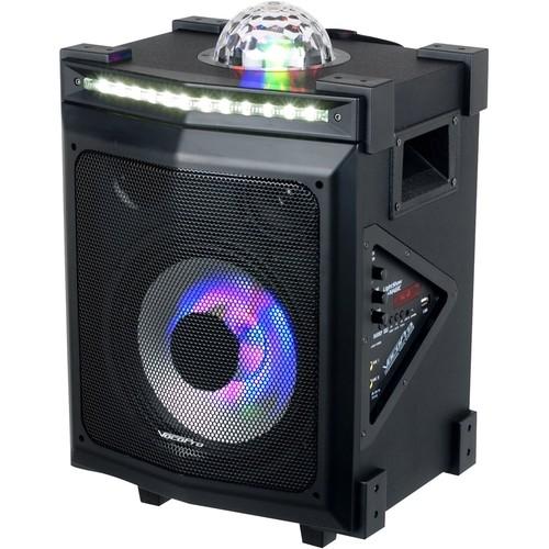 VocoPro - LightShow Magic Portable Bluetooth Speaker - Black