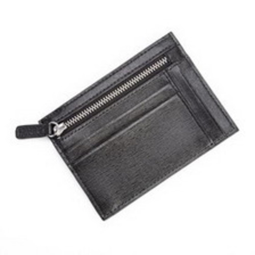 Royce Leather RFID Blocking Slim Card Case Wallet, Black