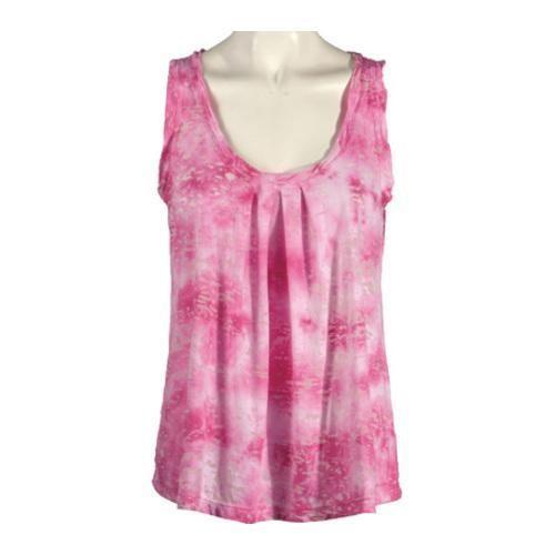 Women's Ojai Clothing Burnout Retro Tank Fuchsia