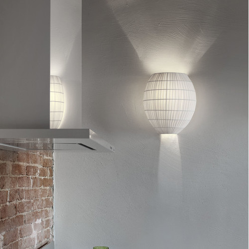 Tessuti Dome Wall Sconce by Masiero [shade finish : Black]