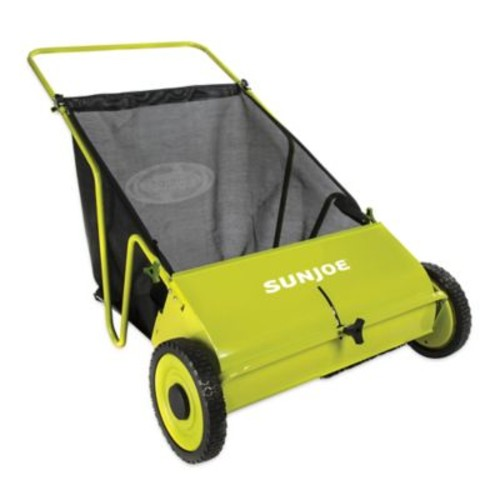 Sun Joe 26-Inch Lawn Sweeper in Green