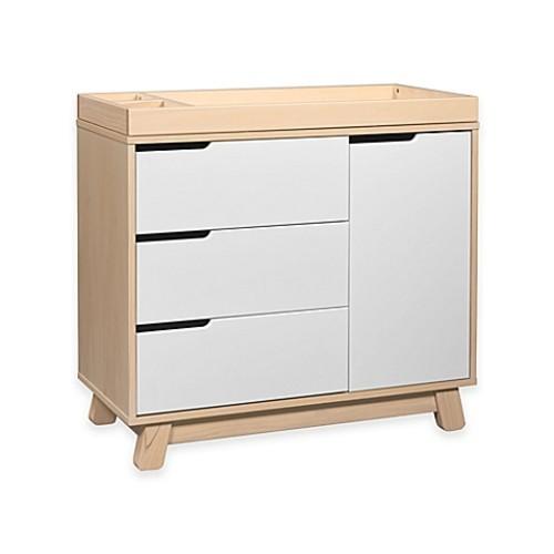 Babyletto Hudson 3-Drawer Changer Dresser in White/Washed Natural
