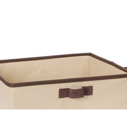 Rebrilliant Set of 2 Nesting Storage Bins Folding Storage Baskets w/ 1 Handles 1 Small 1 Large