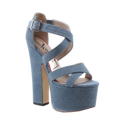 Women's Luichiny Jaw Dropper Platform Sandal Light Blue Denim