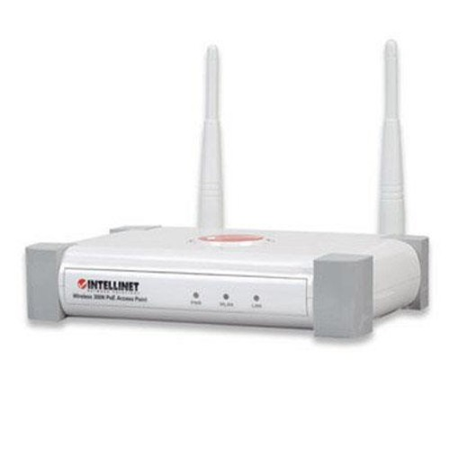 Intellinet 524735 Wireless Access Point IEEE 802.11n Draft 300 Mbps Power Over Ethernet