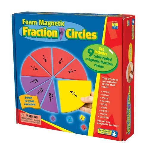 Educational Insights Foam Magnetic Fraction Circles [1]