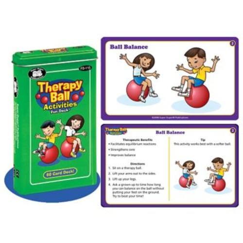 Super Duper Therapy Ball Activities Fun Deck Cards