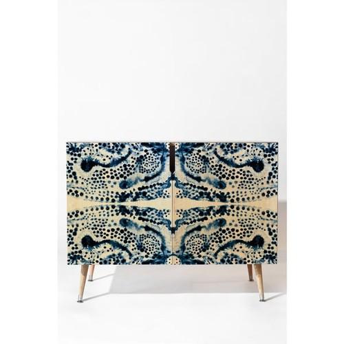 Deny Designs Elisabeth Fredriksson Symmetric Dream Blue Wood Credenza