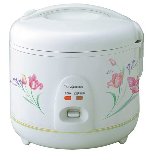 Zojirushi NSRNC10FZ Automatic Rice Cooker and Warmer 5.5-Cup/1.0-Liter, Spring Bouquet [White, 1.0 Liter]