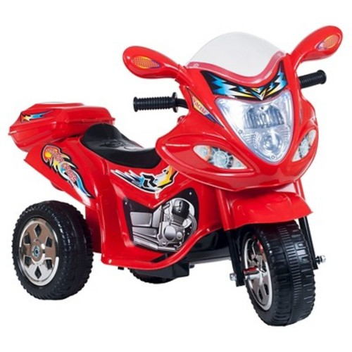 Ride on Toy, 3 Wheel Trike Motorcycle for Kids, Battery Powered Ride On Toy by Lil' Rider  Ride on Toys for Boys and Girls, 2 - 5 Year Old - Red [Red, Standard Packaging]