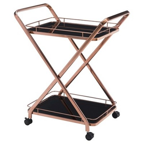 Vesuvius Serving Cart by Zuo