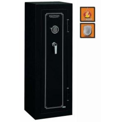 Stack-On 14-Gun Safe Electronic Lock in Matte Black
