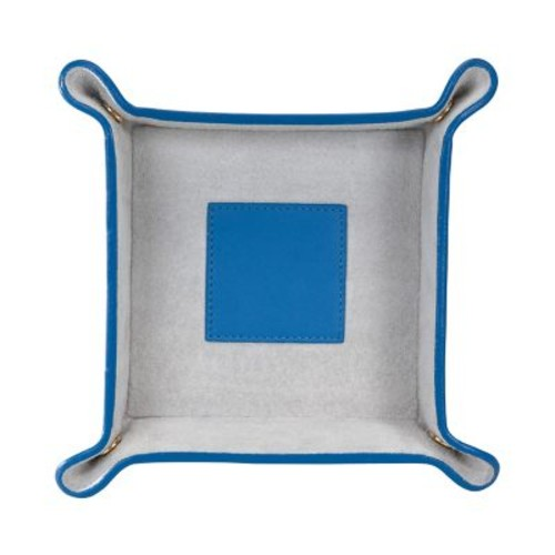 Royce Leather Catchall Royce Blue With Grey Suede