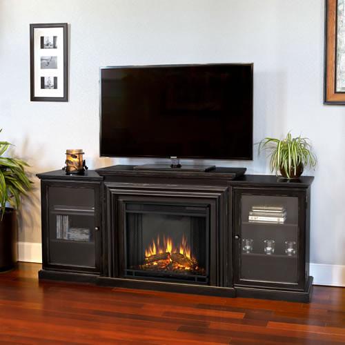 Frederick Electric Fireplace Media Console-Blackwash