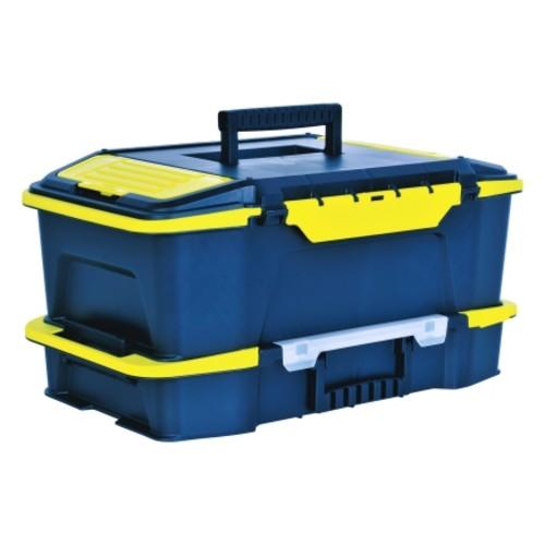 Stanley 19in Plastic Heavy Duty Power Latch Tool Box