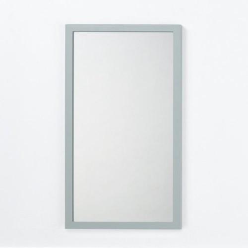 Ronbow Solid Wood Framed Bathroom Mirror in Ocean Gray