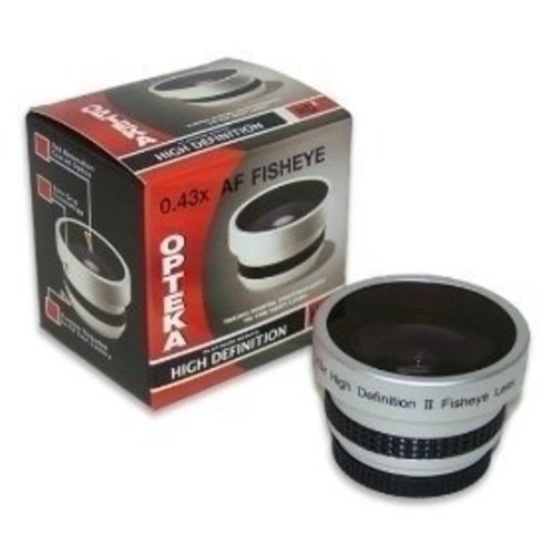 Opteka 0.43x HD2 Full Fisheye Lens for Canon OPTURA S1, MVX1Si, MVX460 , MVX450, MVX430, DC20, DC10 and ELURA 100 Digital Camcorders