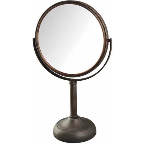 Jerdon JP918BZB 10X Magnified Table Top Mirror, Bronze Finish, 44 oz