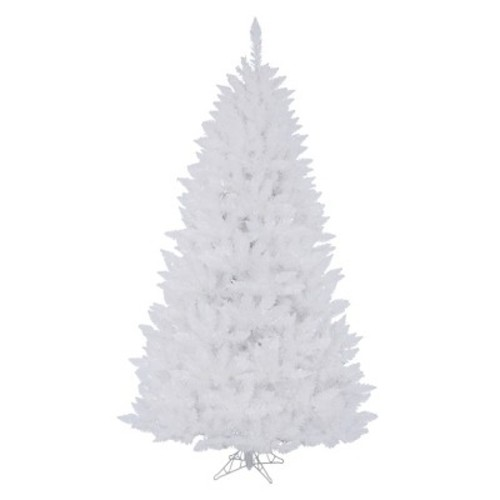 6.5ft Pre-Lit LED Artificial Christmas Tree Sparkle White Spruce - Multicolored Lights